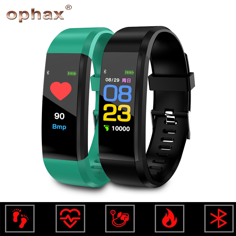 OPHAX Digital 2019 Smart Sport Bracelet Wristband Blood Pressure Heart Rate Monitor Waterproof Sports Pedometer For Android iOSOPHAX Digital 2019 Smart Sport Bracelet Wristband Blood Pressure Heart Rate Monitor Waterproof Sports Pedometer For Android iOS