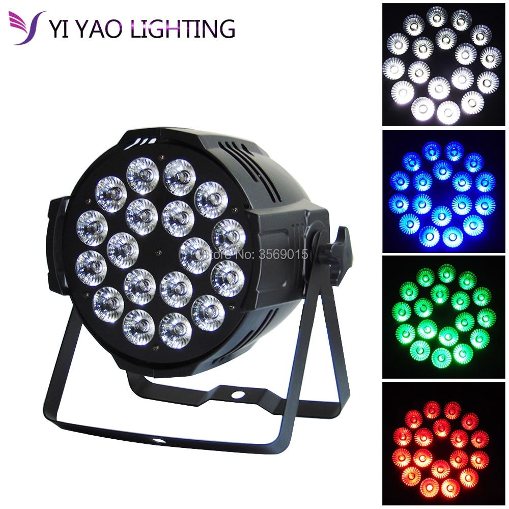 Aleacion aluminio 18x12 W RGBW 4in1 LED Par Can dj Par64 spotlight proyector washAleacion aluminio 18x12 W RGBW 4in1 LED Par Can dj Par64 spotlight proyector wash