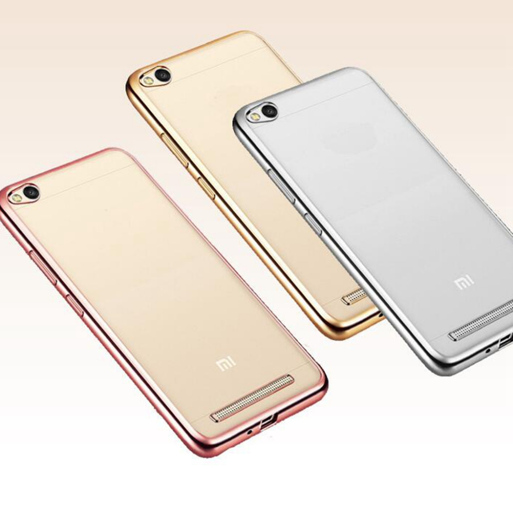 Redmi 4a Case Gold Plated Frame Clear Soft Tpu Phone Cover For Xiaomi 3 32gb 16gb Silicone Cases Redmi4a Fu305usd 225 Piece