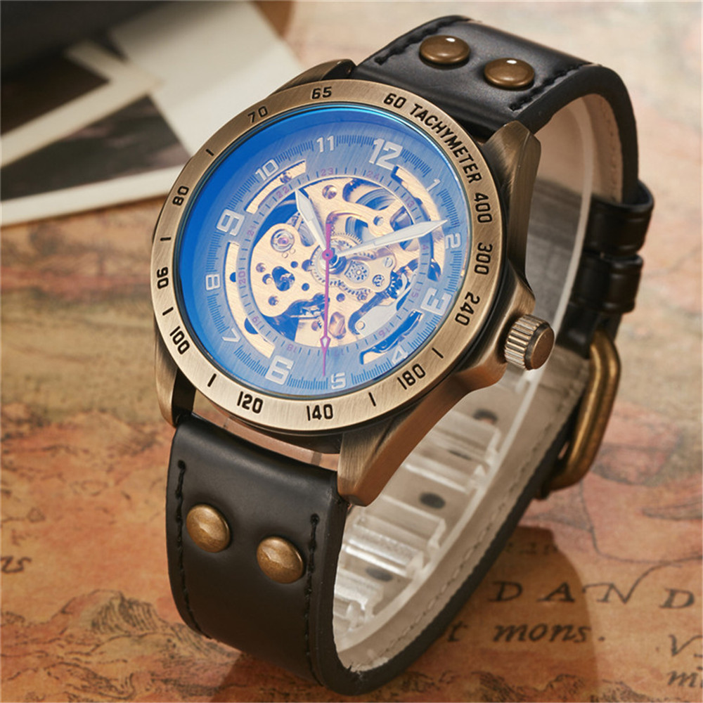 2017 New Automatic Mechanical Men Watches Tachymeter Skeleton Dial Casual 3 Fashion Colors Mens Wristwatch Waterproof With Box hp laserjet pro m402n c5f93a 4 38ppm lan