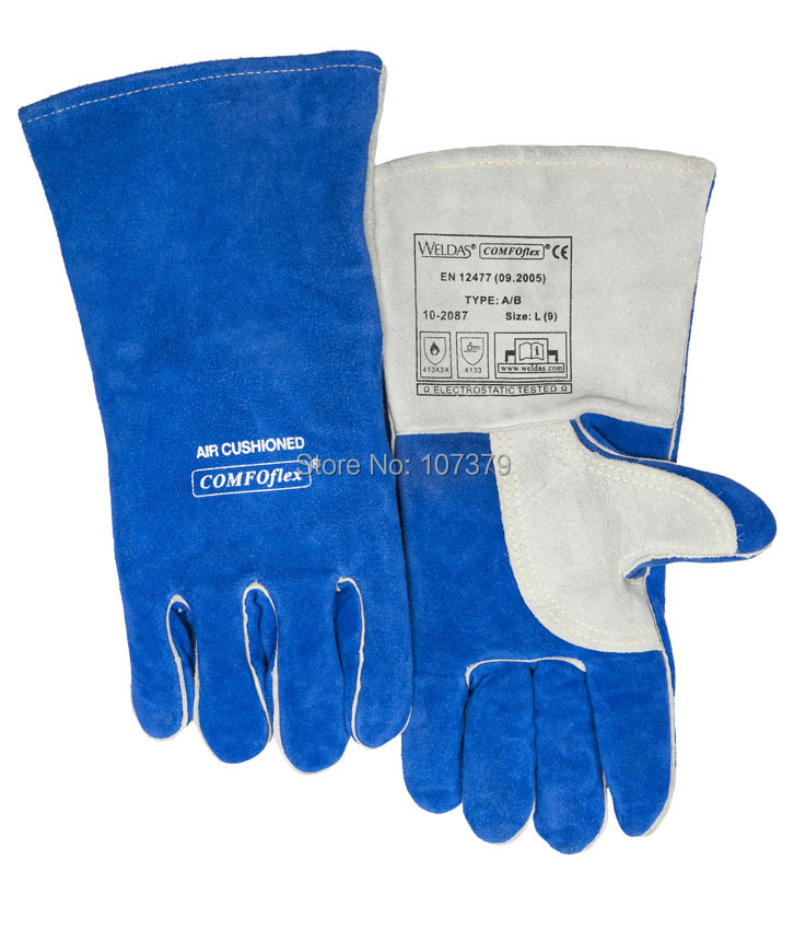 TIG MIG Safety Glove Split Cow Leather Welding Work Glove leather safety glove deluxe tig mig leather welding glove comfoflex leather driver work glove