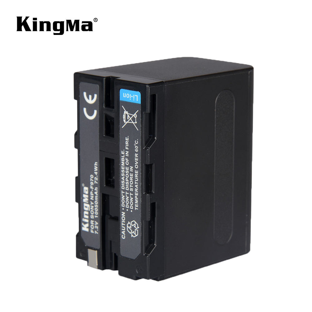 KingMa NP F970 rechargeable Battery 6600mAh NP F970 NPF970 Camera batteries for SONY MC1500C 190P 198P F950 MC1000C TR516 TR555