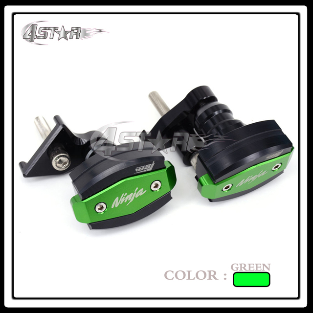 Sale Aluminum Motorcycle Green Frame Slider Anti Crash Protector For ZX10R  2011 2012 2013 Supermoto Motocross Free Shipping-in Falling Protection from  ...
