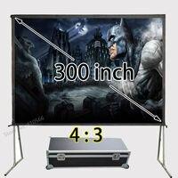 Новый 4:3 300 Full HD проецирования Портативный быстро раза Экран, быстрый складной Экраны с кейс
