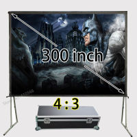 New 4:3 300 inch Full HD Projection Portable Fast Fold Screen , Quick Folding Screens With Flight Case