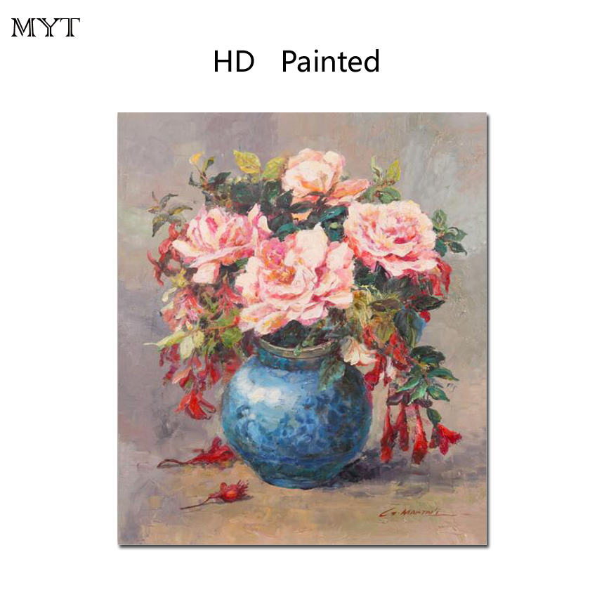 Hot sale HD painting printed on canvas wall picture still life beautiful flowers for bedroom home decor no Framed or Diy Framed