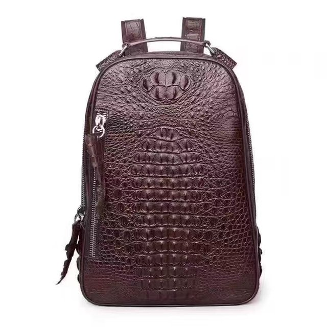 Top Luxury all around alligator skin Men Business bag black discounts  10c56c4016f28