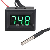 DC 12V 24V Digital Thermometer 67 257 Fahrenheit Degrees Green Led Temperature Meter For Car Pet