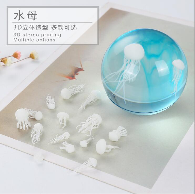 2019 New 3 pcs/lot Different style Resin mini swan jellyfish material epoxy mold makeing jewelry filling for DIY jewelry(China)