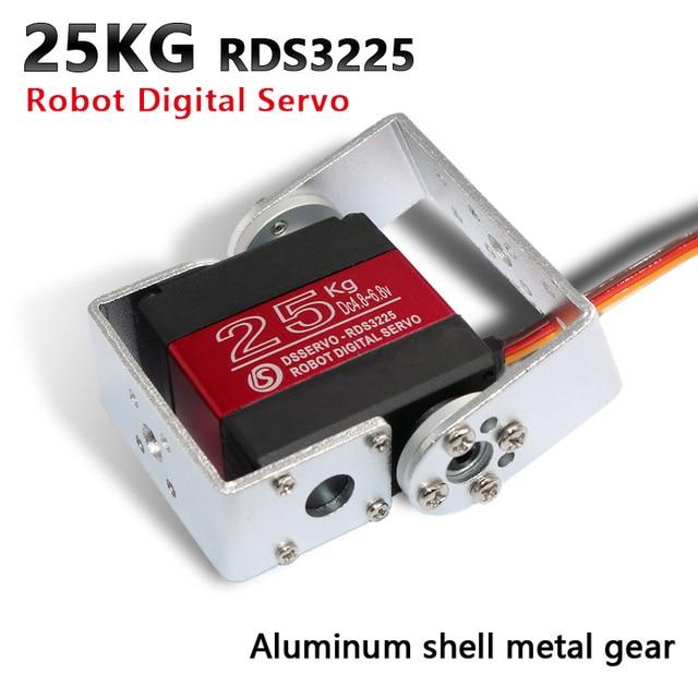1X روبوت سيرفو 25 كجم RDS3225 المعادن والعتاد أجهزة رقمية اردوينو سيرفو مع طويل وقصير مستقيم U الفم