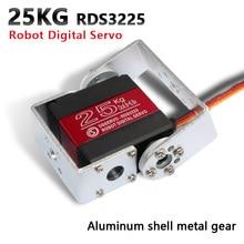 1X Robot серво 25 кг RDS3225 металлическая передача цифровая сервопривод arduino сервопривода с длинные и короткие прямые синтетические волосы U монтажного