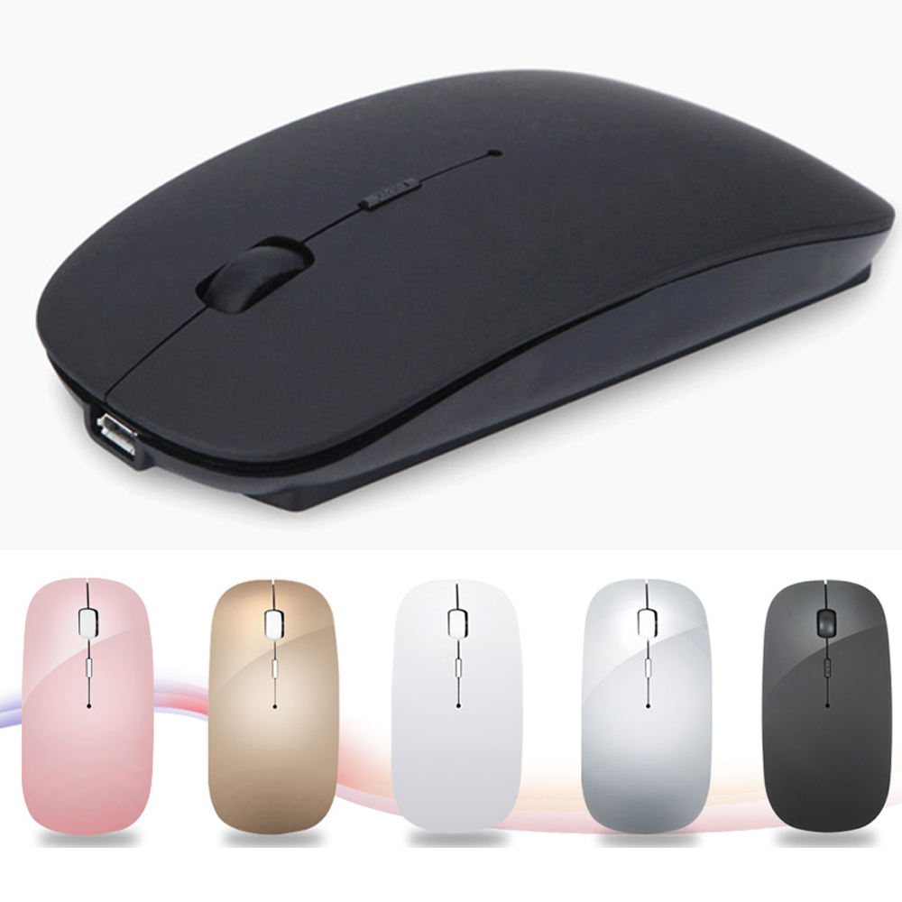 Rechargeable USB Wireless Silent Mute Gaming Mouse Ultra Thin Mice for Macbook Android Apple Notebook PC in Mice from Computer Office
