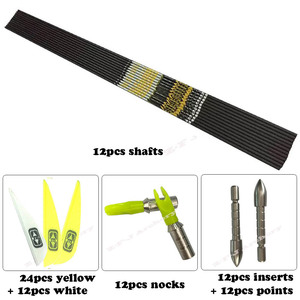"""Image 5 - + .001"""" DIY Spine 350 400 450 500 600 700 750 800 ID4.2mm Carbon Arrows Shaft Vanes Recurve Compound Bow Hunting Shooting n"""