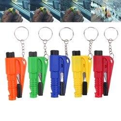 5 farben Sicherheit Glas Fenster Brechen Hammer Notfall Flucht Rescue Tool Keychain Auto Fenster Gebrochen Notfall Glas Breaker