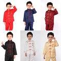 Niños muchacho chino wushu tradicional de kung fu uniforme traje uniforme de artes marciales tai chi establece niños clothing etapa 16