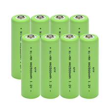 GTF 1.2V 2500mAh NI MH AA Pre-Charged Rechargeable Batteries Ni-MH Rechargeable aa Battery For Toys Camera Microphone Drop Ship(China)
