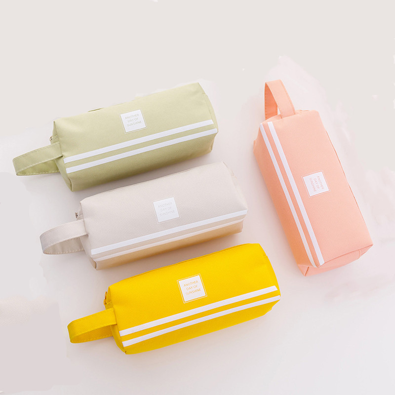 Creative Double Zipper Pencil Case Kawaii Pencilcase Large Capacity Pen Box For Girls Gifts Cute School Bag Stationery Supplies