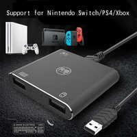 Para Nintendos NS convertidor de interruptor para Xbox un interruptor de ratón de teclado con cable para PS4 Pro convertidor de teclado convertidor Hub