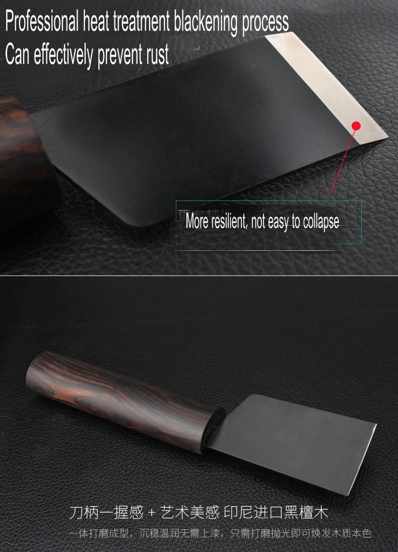 D2 matériel poignée de bois de santal en cuir couteau Japonais style maroquinerie diy outil