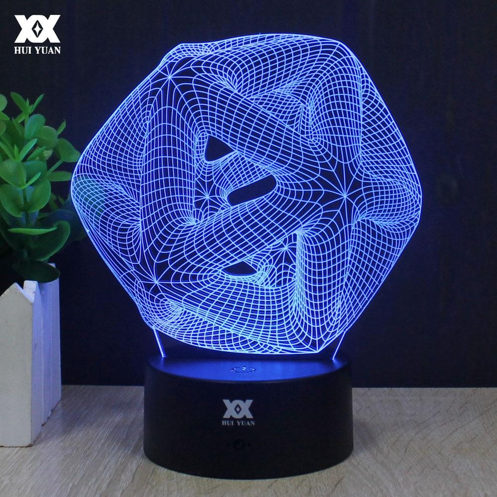 LED Abstrakt Qrafik 3D Lampa Akrilik illüziya Atmosfer Gecə İşıq - Gecə işığı