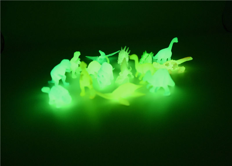 8 pieces/bag Jurassic World Noctilucent Glow In The Dark Dinosaur Blocks Kids Action Figure Collectible Model Toy(China)