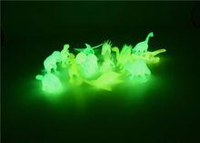 8 sztuk worek świat jurajski Noctilucent świecące w ciemności dinozaur bloki dzieci figurka-model kolekcjonerski Toy tanie tanio 2 inch Dinozaury noctilucous dinosaurs Wyroby gotowe Puppets 1 144 Żołnierz gotowy produkt Żywica Unisex 3 lat Remastered version