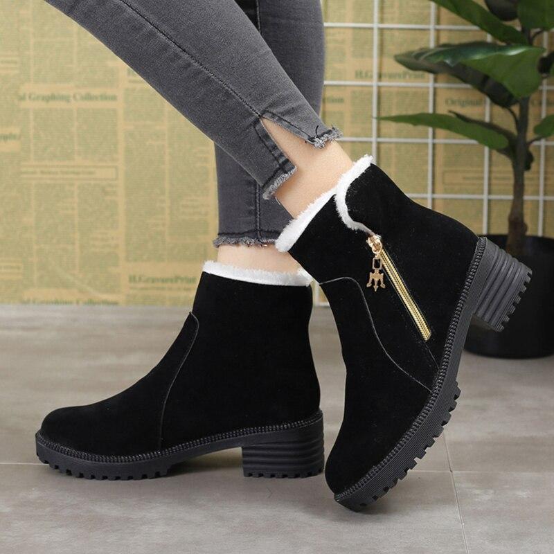 Las Bajos 6779 Botas Botines Invierno Mujer Con Mujeres Militar Felpa verde Cremallera gris Tacones De Suede Negro 2018 Diseñador Zapatos Faux WwtadqYw