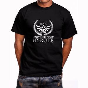 Мужская футболка с коротким рукавом Hyrule, черная футболка с коротким рукавом, размеры от S до 3XL, модная удобная футболка