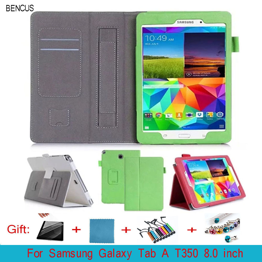 BENCUS Samsung Galaxy Tab A 8.0 inch SM-T350 T355C P355C Case Leather Hand Stand Holder Card Protective Tablet Cover Busin