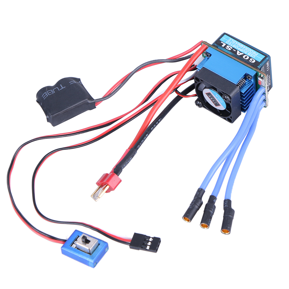 60A Car Auto Use Supply Brushless Electric Speed Controller for (ESC) 1:10 Racing Truck sensorless 35a brushless esc electric speed controller for rc car racing set ft