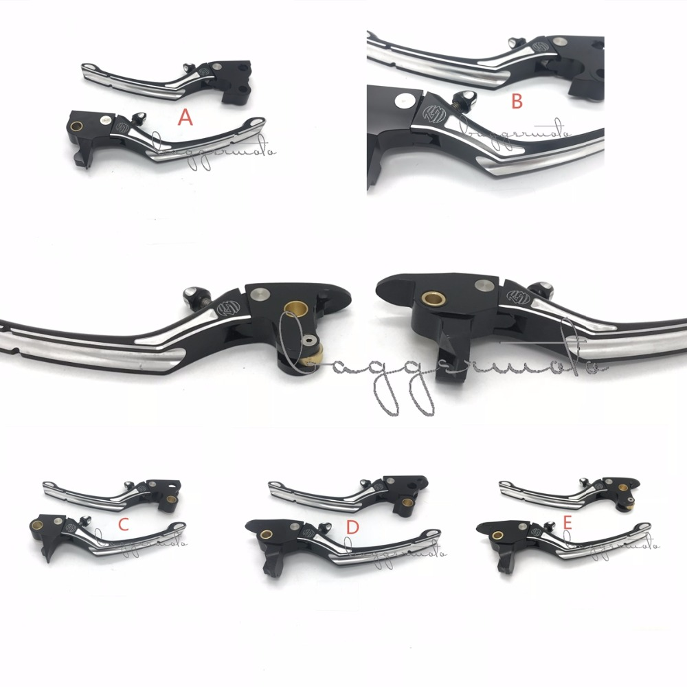 Good Quality Black Contrast Cut Regulator Clutch & Brake Lever Set for Harley Sportster 883 1200 Touring Road King Softail 08-17 cnc clutch brake lever for harley softail hand control dyna levers for 96 03 sportster 96 07 touring street glide hand lever