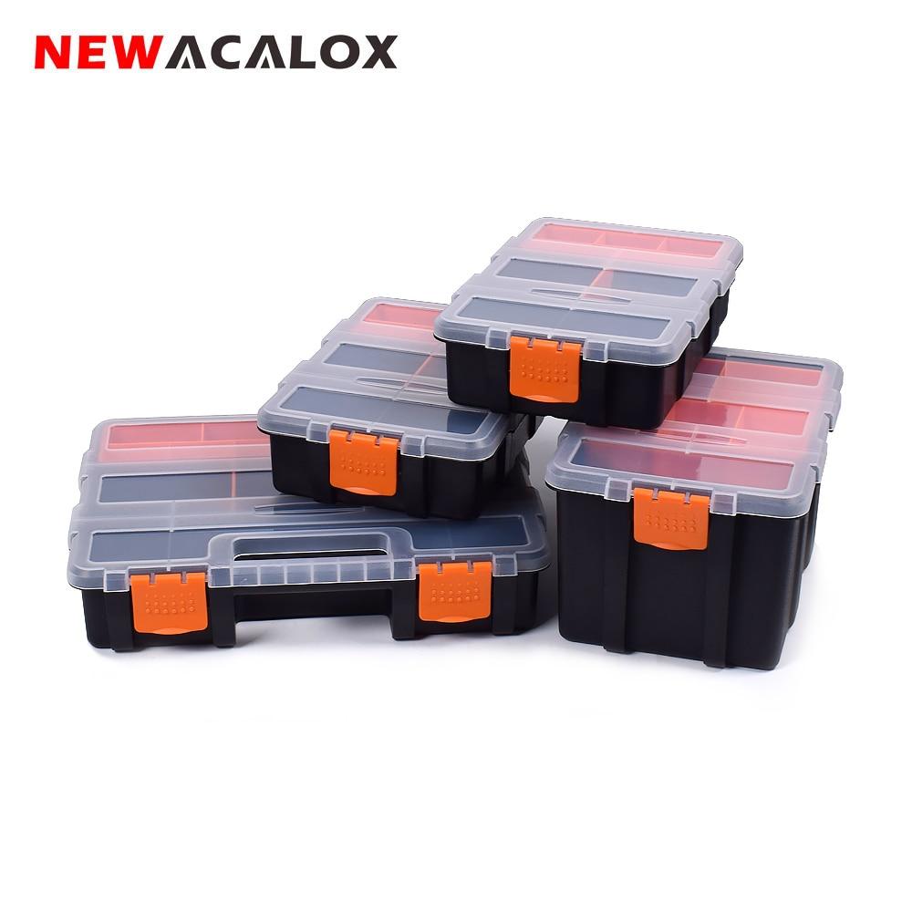 NEWACALOX 2-22pcs Drawer Toolbox Wall Mount Hardware Drawer DIY Plastic Parts Storage Hardware Case Screw Cabinet Storage Box