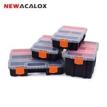 цена на NEWACALOX 2-22pcs Drawer Toolbox Wall Mount Hardware Drawer DIY Plastic Parts Storage Hardware Case Screw Cabinet Storage Box
