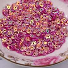 50 г 4 мм круглое колесо цветок Позолота набор пайеток для вышивки ПВХ DIY блестка Роза красная ромашка конфетти блестки
