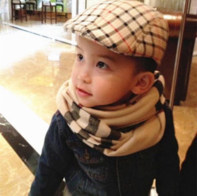 Fashion Spring Winter Autumn Baby Children Kids Plaid Berets Hat 2-8Yard Newsboy  Caps Boy b0aabf272d0