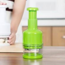 Stainless steel hand pressure type shredder knife Kitchen multipurpose ginger onion chopper vegetable cracker cutting 21.5*8cm
