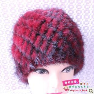 Import mink hand-knitted pineapple mink hat fur hat thermal millinery rabbit hair hat