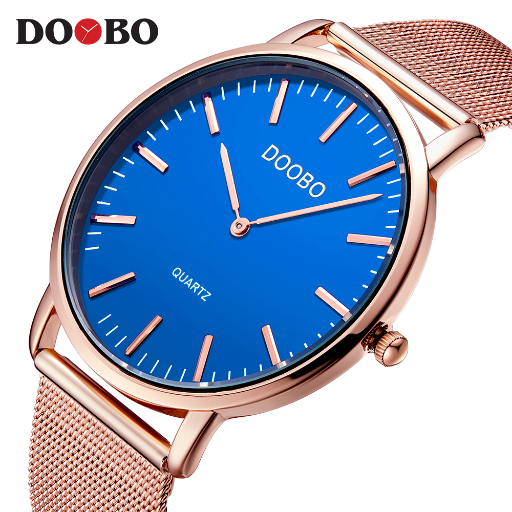 Sports DOOBO Mens Watches Top Brand Luxury Waterproof Sport Watch Men Ultra Thin Dial Quartz Watch Casual Relogio Masculino