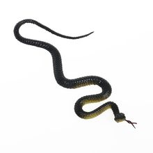 1Piece Black Green Color Rubber Scare Snake Joke Toy 22-45CM Terrified Garden Props Pretend Shock Snake Trick Toy(China)