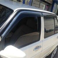 High Quality 4 Pcs Set TUCSON Wind Rain Sun Guards Visor Vent Awnings Shelters For Toyota