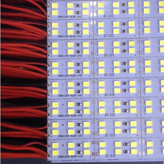 led Bar Light Hard Rigid strip Double Row Non waterproof 50cm 12V 6/10/20/50pcs 0.5m 84leds 5630 12mm PCB 168leds/meter