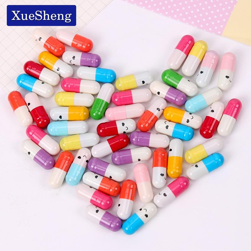 50 PCS/Lot Kawaii Children Mini Emoticon Smile Pill Love Blank Message Capsule Envelope Letter Paper Student Writing Paper(China)