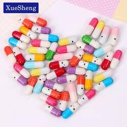 50 шт./партия Kawaii Дети мини смайлик таблетки любовь пустые капсулы для сообщений конверт для бумажного письма Студенческая бумага для письма