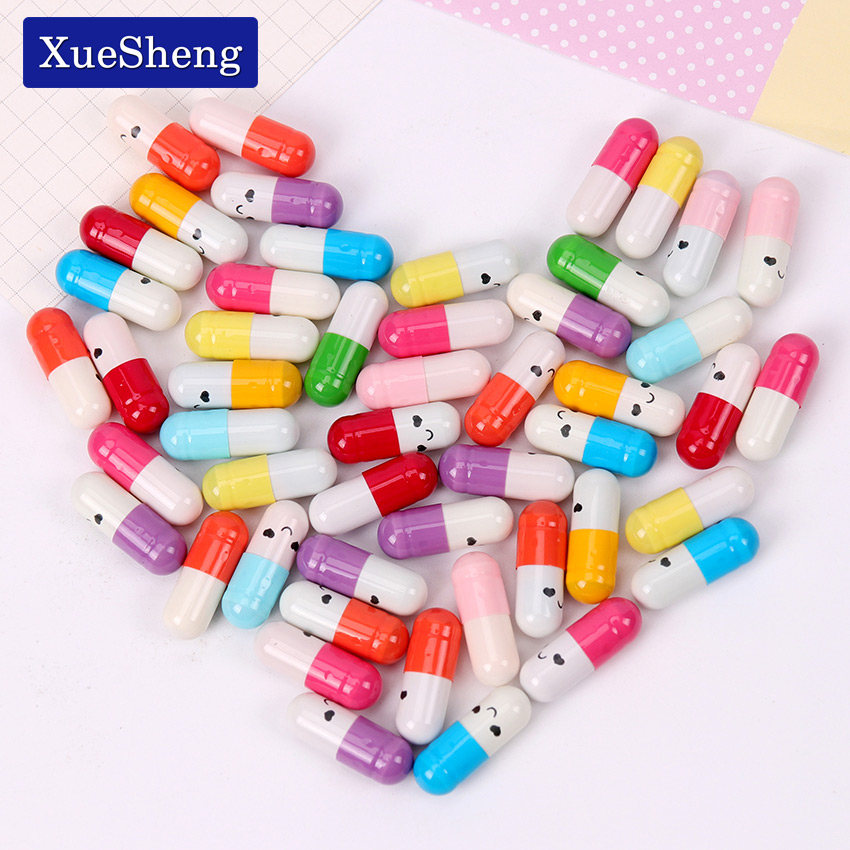 50 PCS/Lot Kawaii Children Mini Emoticon Smile Pill Love Blank Message Capsule Envelope Letter Paper Student Writing Paper