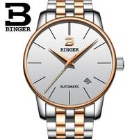 Suíça BINGER relógio dos homens marca de luxo Relogio masculino de aço Inoxidável resistente à água relógios de Pulso Mecânicos B 5005M 9 wristwatch brand wristwatch mechanism wristwatch mens -
