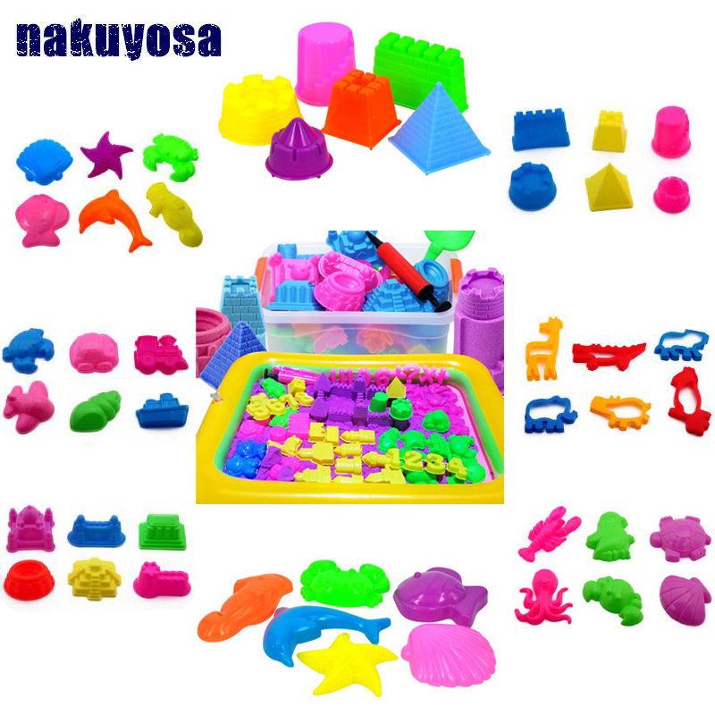 23 Styles DIY Educational Toys Indoor Magic Play Sand Castle/animal Models Building Dynamic Magic Sand Clay Model Building Toys