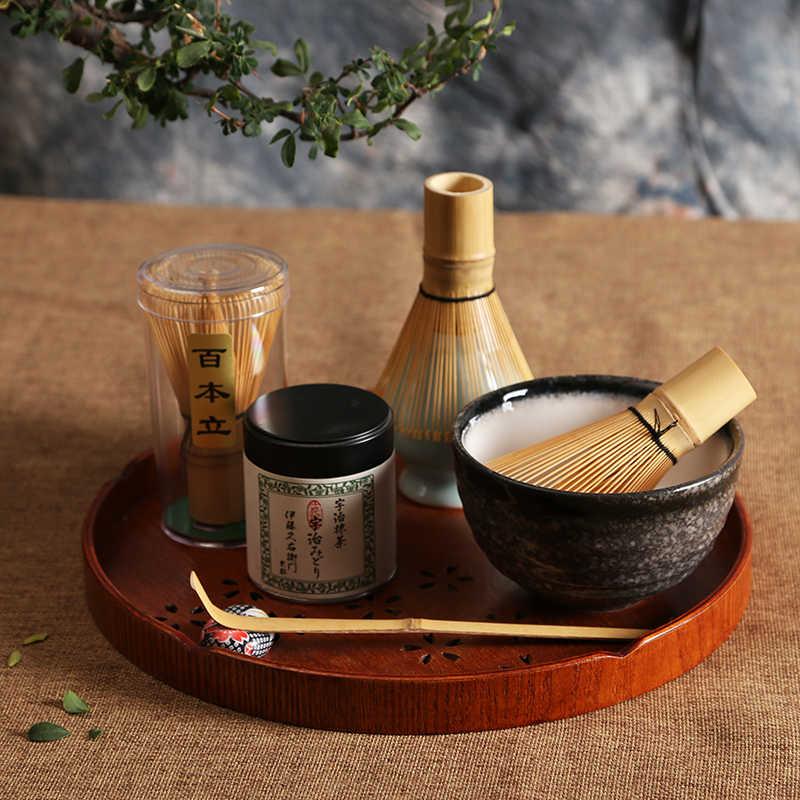 2018 japanischen Zeremonie Matcha Anzug Bambus Schneebesen Matcha Grüner Tee Pulver Chasen Werkzeug Grinder Pinsel Tee Werkzeuge Halter Zubehör