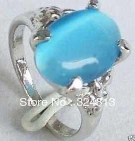 ที่สวยงามประเพณีแหวนหยกสีฟ้า# 2329
