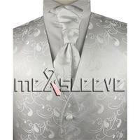 New Arrive Free Shipping Formal Wear Waistcoat Vest Ascot Tie Cufflinks Handkerchief
