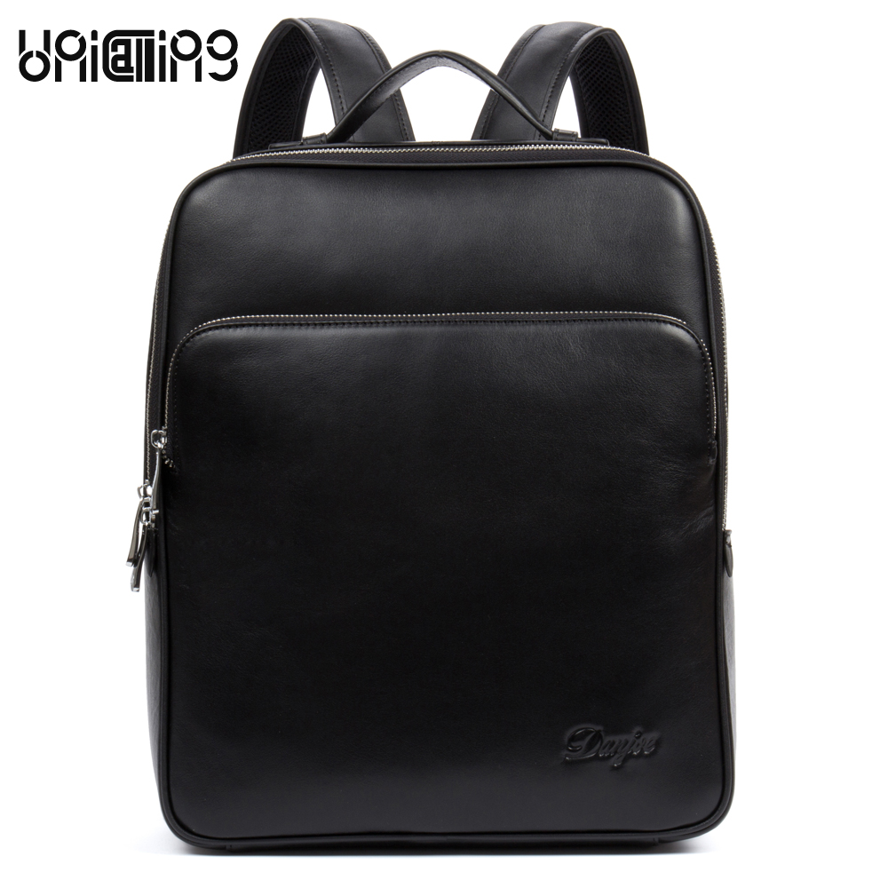 UniCalling luxury men leather backpack fashion men trendy cow leather male backpack business laptop computer leather backpackUniCalling luxury men leather backpack fashion men trendy cow leather male backpack business laptop computer leather backpack